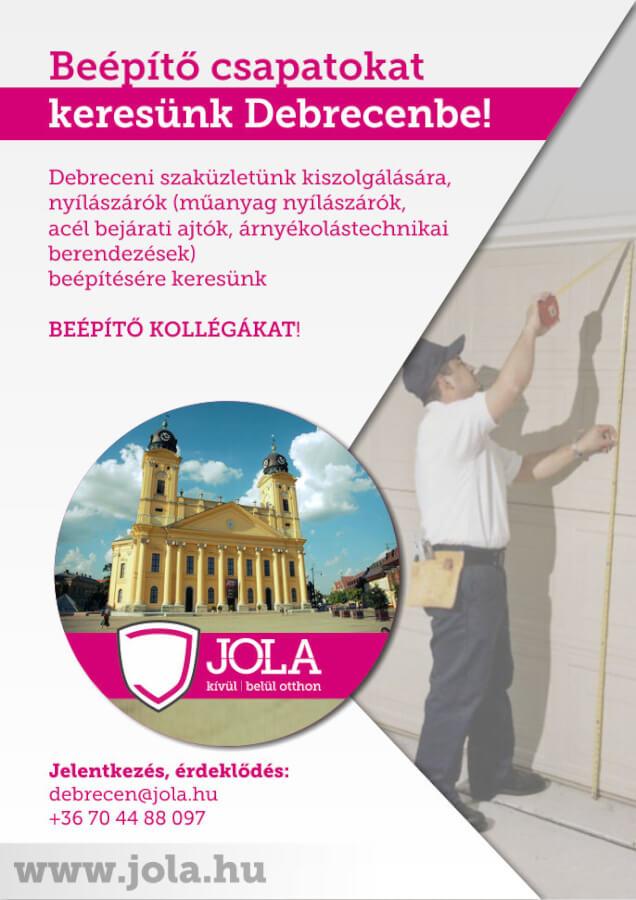 Beépítőket keresünk Debrecenbe