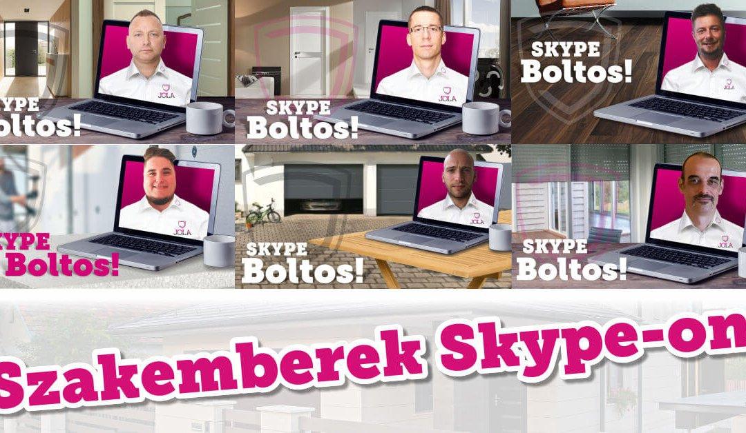 Szakemberek Skype-on